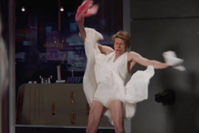 Willem Dafoe channels Marilyn Monroe in Snickers Super Bowl spot