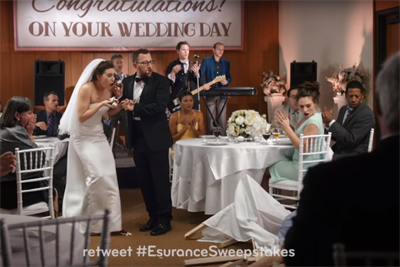 Esurance reprises its Super Bowl Twitter contest, bests Pepsi, Mountain Dew