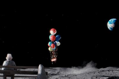 "John Lewis ""the man on the moon""  by Adam & Eve/DDB"