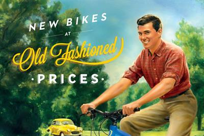 "Evans Cycles ""old fashioned prices"" by Antidote"