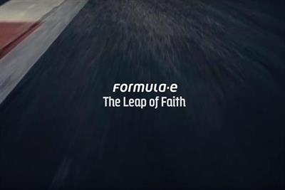 "Formula E ""leap of faith"" by Little Dot Studios"