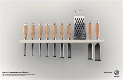 "Volkswagen ""the right tools"" by Adam & Eve/DDB"