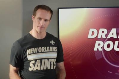 NFL players draft regular Joes for Chunky Soup in Drew Brees' basement