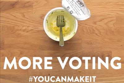 "Pot Noodle ""Less cooking, more voting"" by Lucky Generals"