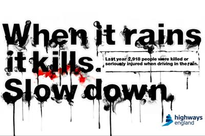 "Highways England ""When it rains it kills"" by AMV BBDO"