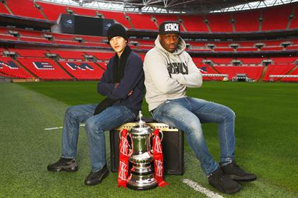 Contenders: rappers Devlin and Lethal Bizzle will compete to find FA Cup anthem