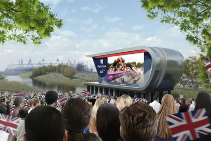 British Airways: an impression of the Park Live broadcast (photo: Locog)