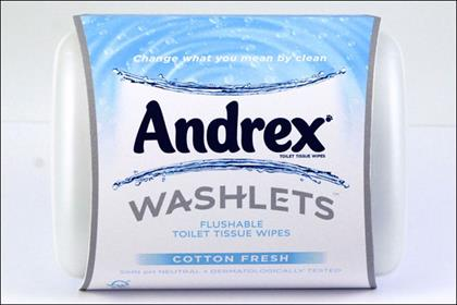 Andrex: £3m relaunch of moist wipes range Washlets