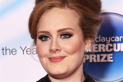 Adele: one of the many celebrities whose obvious make-up use has driven consumer uptake of colour cosmetics