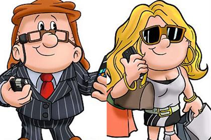Tetley: images of the characters hit the internet