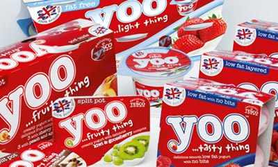 Tesco: launched Yoo yogurt last month