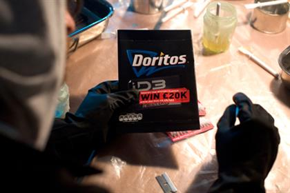 Doritos: one of the first brands to use AR codes on packaging