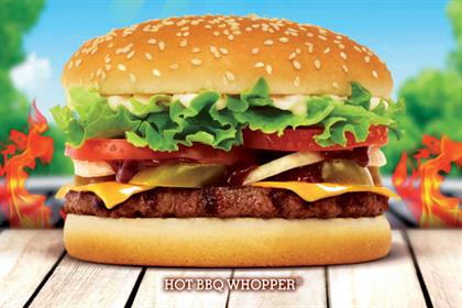 Burger King: rolls out BBQ summer-themed burger