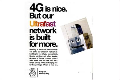 Three: ads banned for misleading 3.9G speed claims