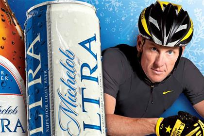 Lance Armstrong: stars in Michelob Ultra promotion