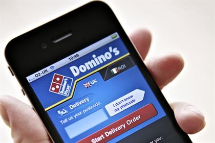 Domino's Pizza:took more than 1m a week from orders via mobile transactions