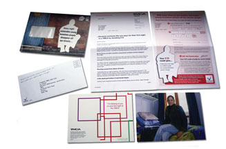YMCA direct mail pack