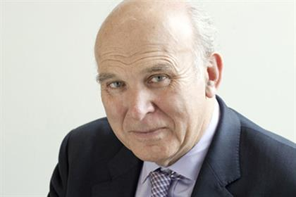 Vince Cable: secretary of state for business, innovation and skills