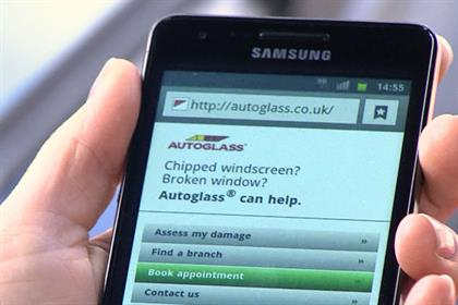Autoglass: links up with Samsung Galaxy S II to promote mobile website