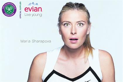 Evian: Maria Sharapova stars in Wimbledon push