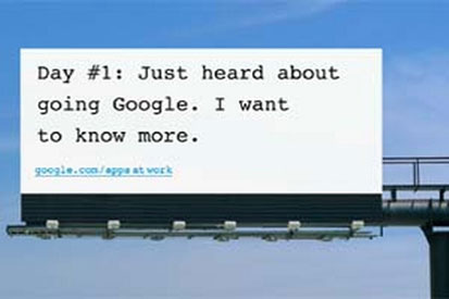 Google's Apps at Work billboard campaign
