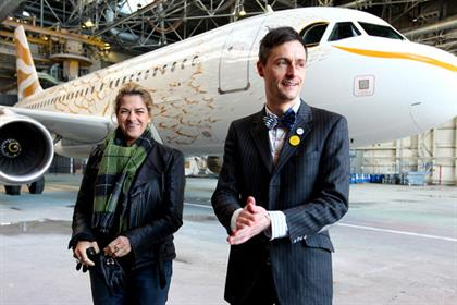 Tracey Emin and Pascal Anson: with BA's Dove (picture credit: Nick Morrish)