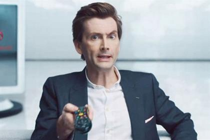 David Tennant: stars in Virgin Media campaign