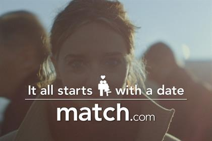 Match.com: second highest share of voice