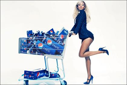 Beyoncé: latest brand ambassador for Pepsi's Live For Now campaign