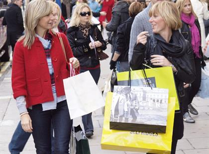 West End shoppers: London's retail mecca logged weekend sales of 200m