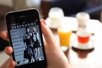 Debenhams: the department store's mobile shopping service