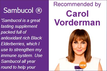 Carol Vorderman: fronts latest Sambucol ad campaign