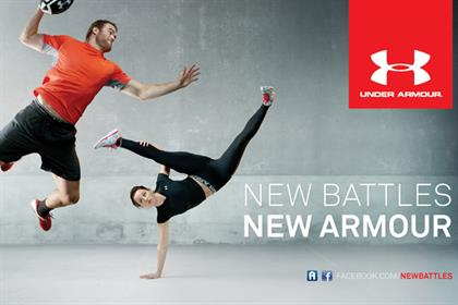 Under Armour: brand ambassadors include Welsh rugby star Jamie Roberts