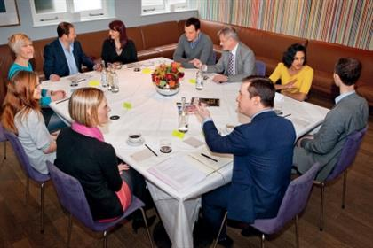 Around the table: Sarah Dear, Jon White, Rachel Barnes, Rob Moss, Jonathan Sands, Sushma Sagar, Simon Hall, Philip Smith, Rebecca Peel, Lynsey Barber.