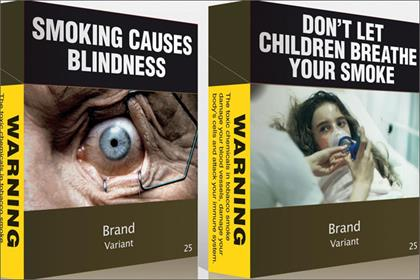 Cigarette branding: examples of proposed packaging to be launched in Australia