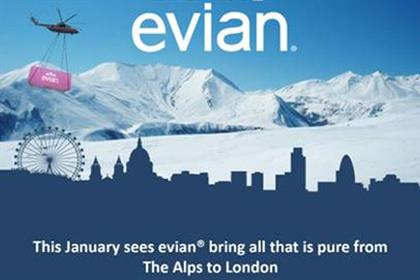 Evian: brings Alpine experiential campaign to London