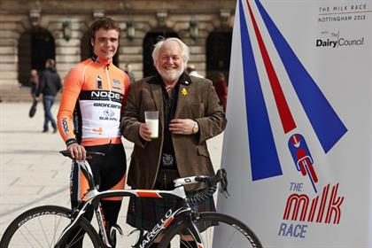 Milk Race: Olympic cyclist Steven Burke and milk industry executive Sandy Wilkie