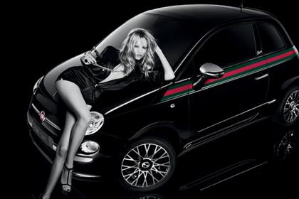 Fiat 500byGucci: promotional campaign features model Natasha Poly