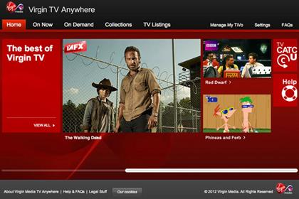 Virgin TV Anywhere: on demand service from Virgin Media