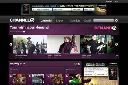 Channel 5: Samsung agrees app deal for on-demand service