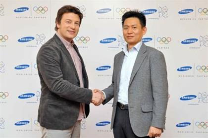 Jamie Oliver: secures deal with Samsung