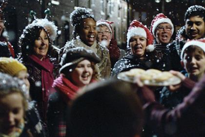 Tesco ad broke out the fake snow for a series of fell-good Christmas vignettes
