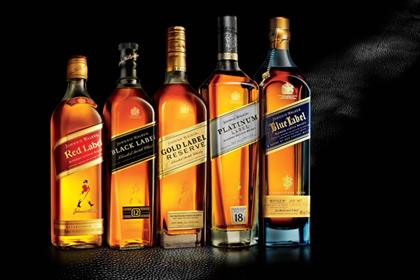 Johnnie Walker: second highest share of voice
