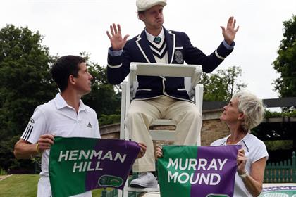 Robinsons: Henman battles it out with Murray's mum over mound