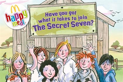 McDonald's: collaborates with Enid Blyton's Secret Seven