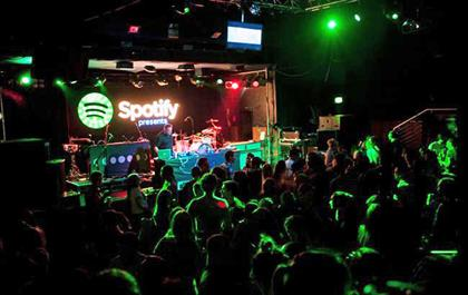Spotify: music streaming service hosted an opening party at Advertising Week 2014