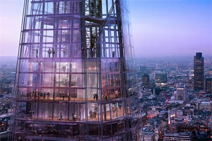 The Shard: (photo credit: The View from The Shard)