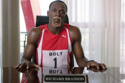 Usain Bolt: stars in Virgin Media campaign