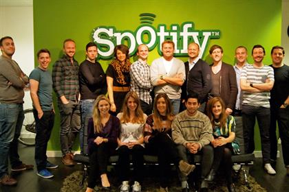 Spotify: worked hard to create innovative brand partnerships and topped the IPA Online Media Owner Survey
