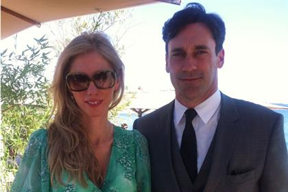 Claire Beale and Jon Hamm